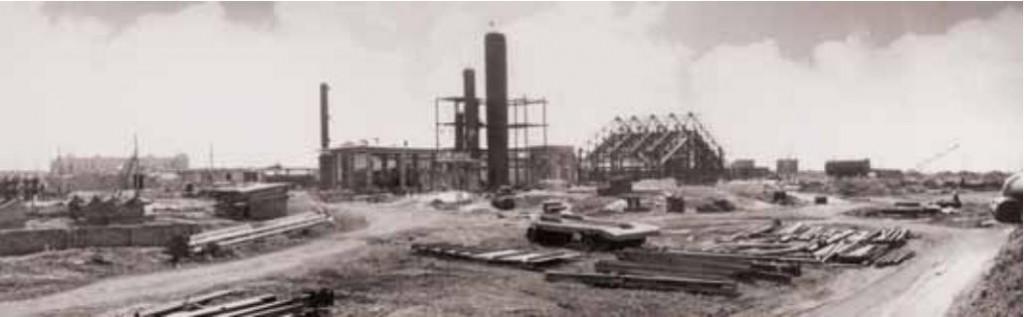 Начало строительства НК НПЗ 1949год