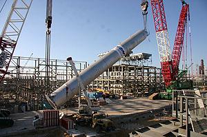 Монтаж реактора в Новокуйбышевске