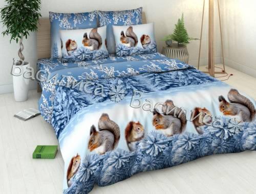 двуспальное постельное с рисунком
