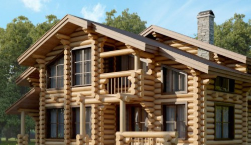 Строительство частного дома из цельного бруса